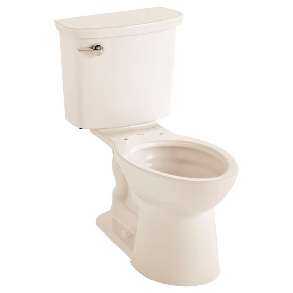 American Standard Vormax Tall Height 2-Piece 1.28 GPF Single Flush Elongated Toilet in Linen, Seat Not Included