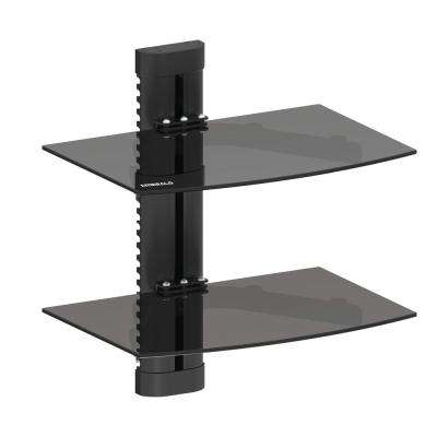 Double AV Component Shelving Wall Mount