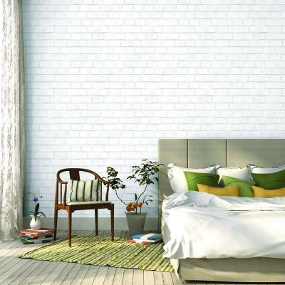 Brick White Self-Adhesive Removable Wallpaper