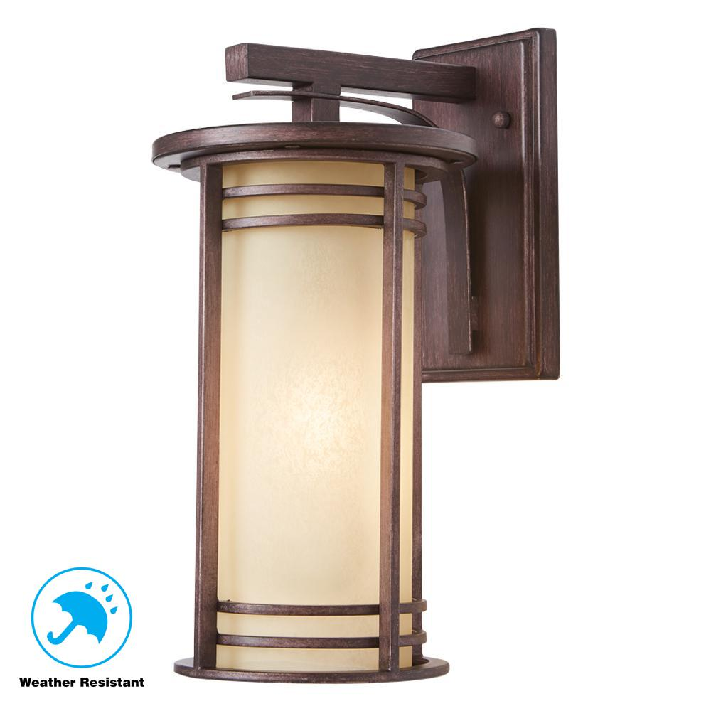 Home Decorators Collection 15 In. 1-Light Bronze Outdoor