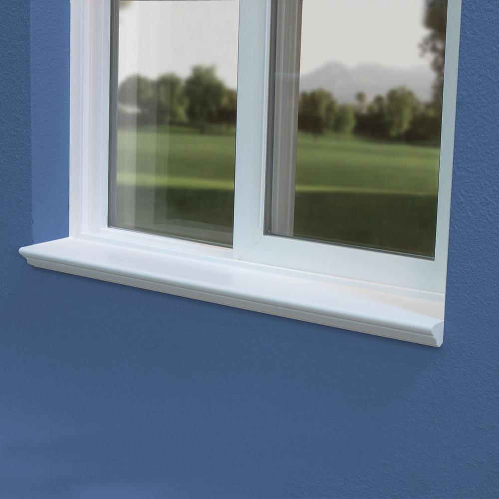 Sill Rite Standard Classic 4 In X 72 In X 1 In White Vinyl Window Sill P724c The Home Depot
