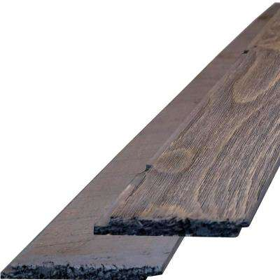 3/4 in. x 6-1/4 in. x 96 in. Century Gray Barnwood Barntique Gaynes Ship Lap Wall Panels