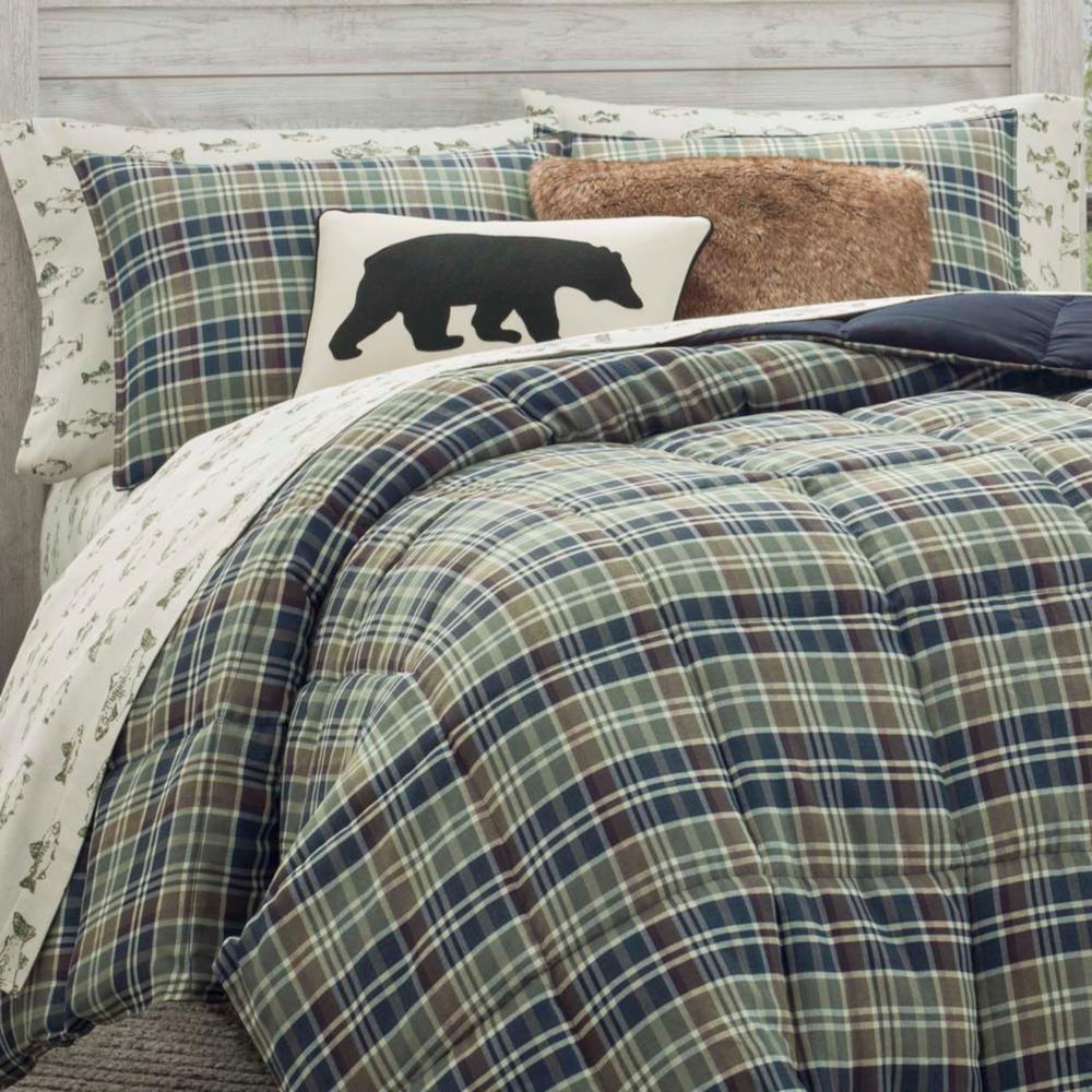 Rugged Navy Plaid Comforter Set