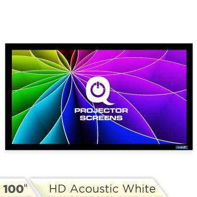 Fixed Frame Projector Screen - 16:9, 100 in. HD Acoustic White 1.2 Gain