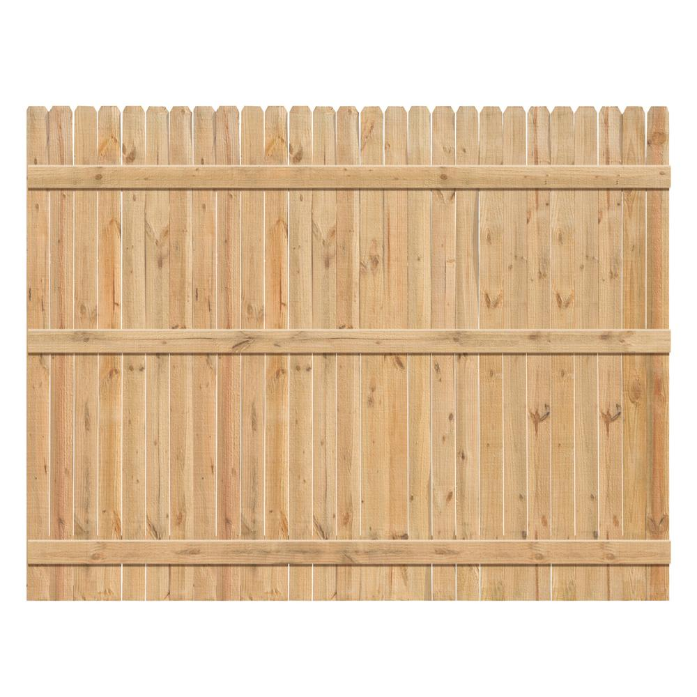 6 ft. x 8 ft. Cedar Dog-Ear Fence Panel