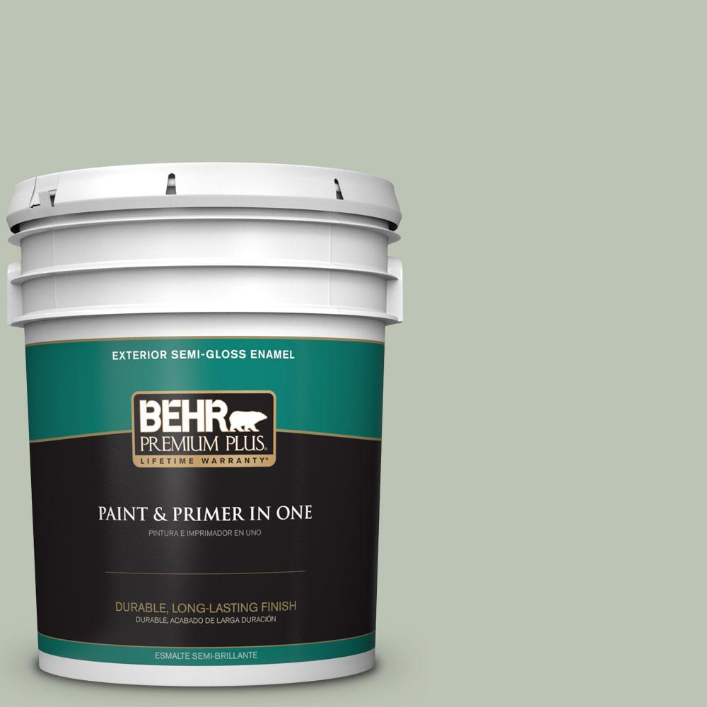 5 gal. #PPU11-11 Summer Green Semi-Gloss Enamel Exterior Paint