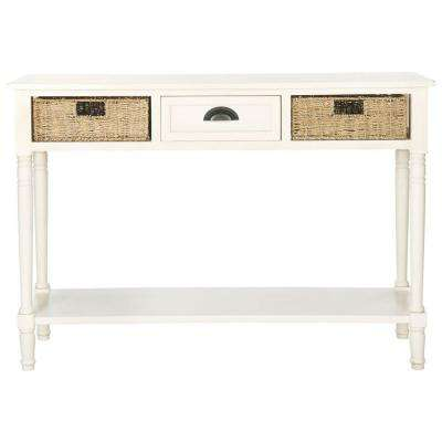 Winifred White Storage Console Table