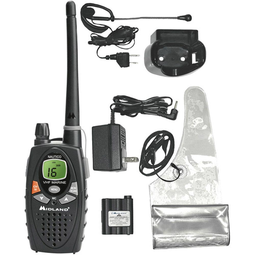 Midland 13 Miles 88 Channel Nautico1 Hand-Held Marine Radio (1-Pack)-DISCONTINUED