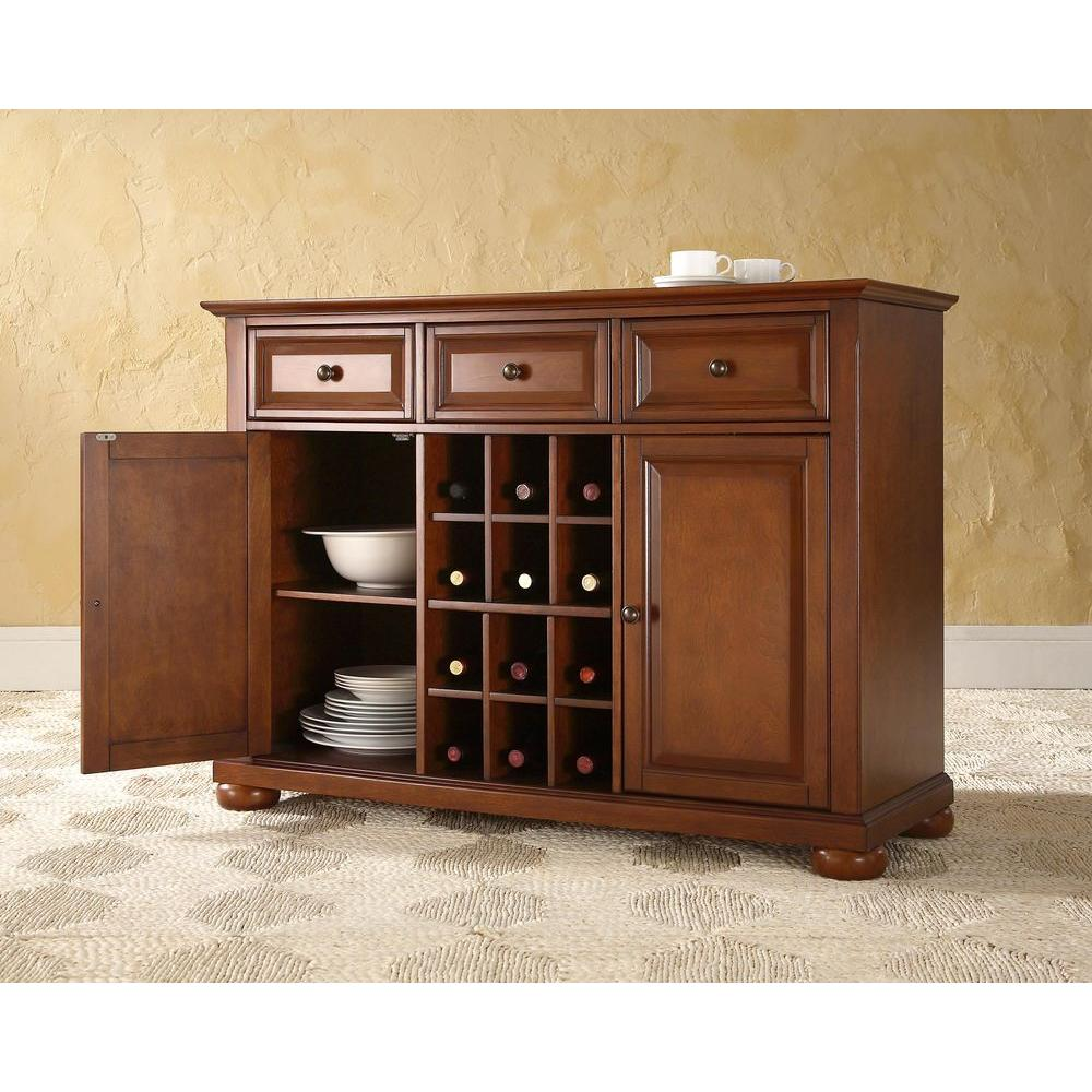 Home Styles Black And Cherry Buffet With Hutch 5001 0042 42 The
