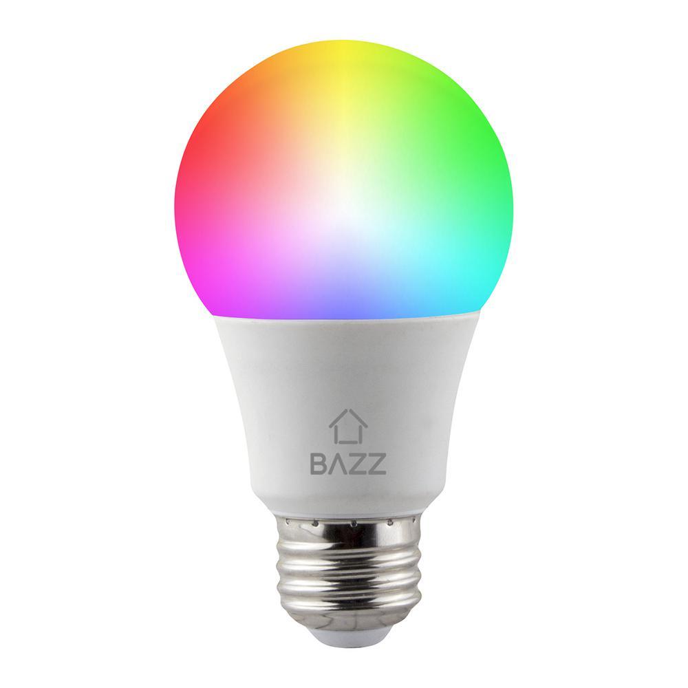 60-Watt Equivalent A19 Dimmable Tunable RGB Smart Wi-Fi LED Light Bulb