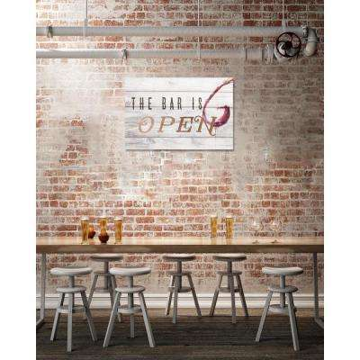 10 in. x 15 in. 'The Bar Is Open Rose Gold' by Oliver Gal Printed Framed Canvas Wall Art