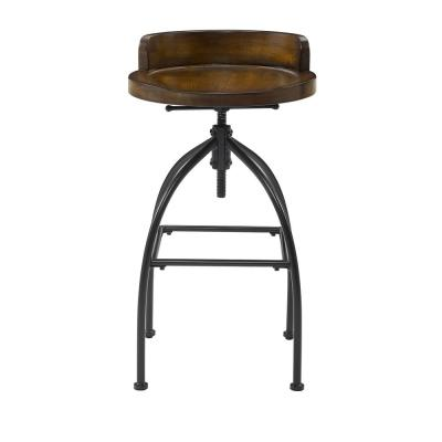 Edison Natural Adjustable Height Stool