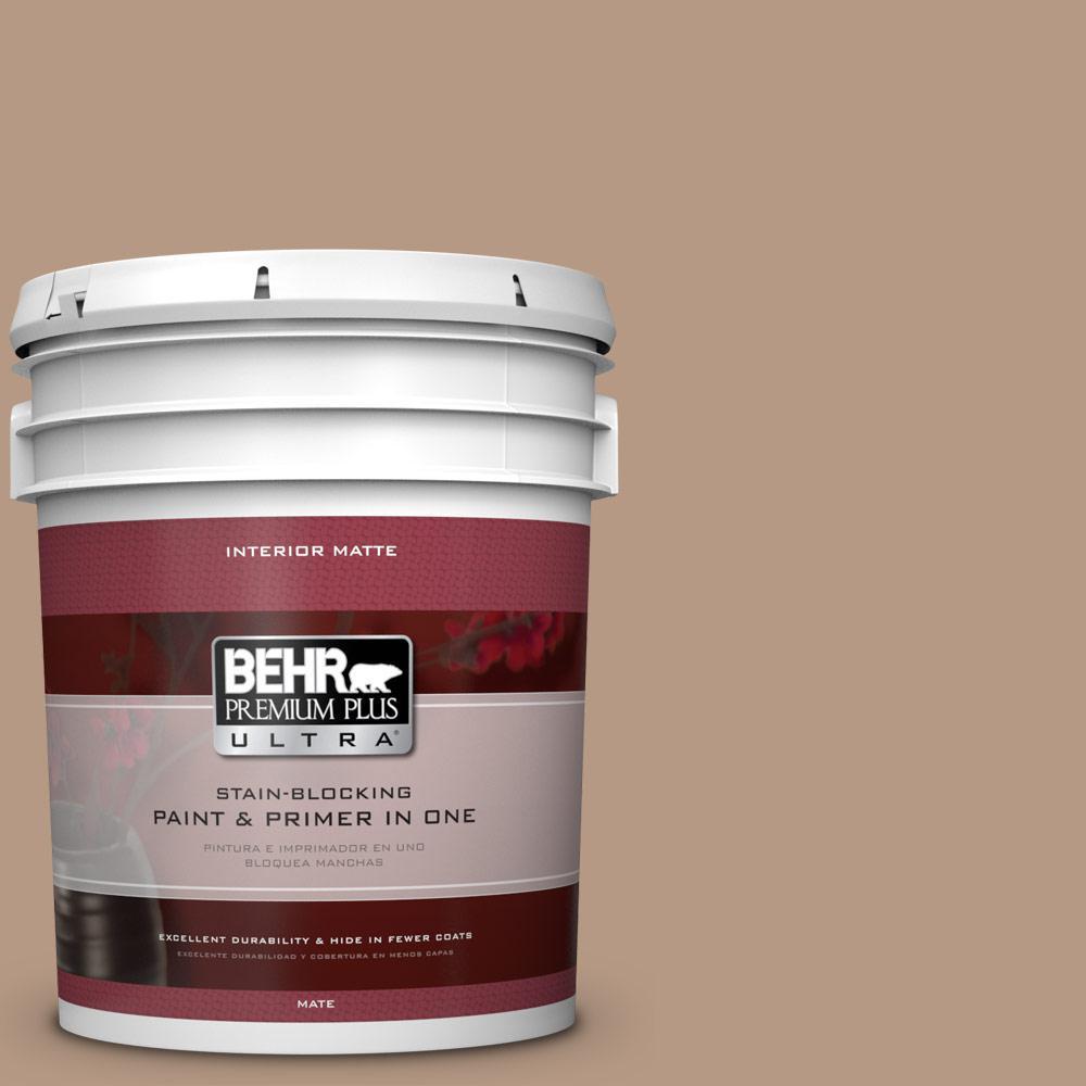 5 gal. #250F-4 Stone Brown Flat/Matte Interior Paint