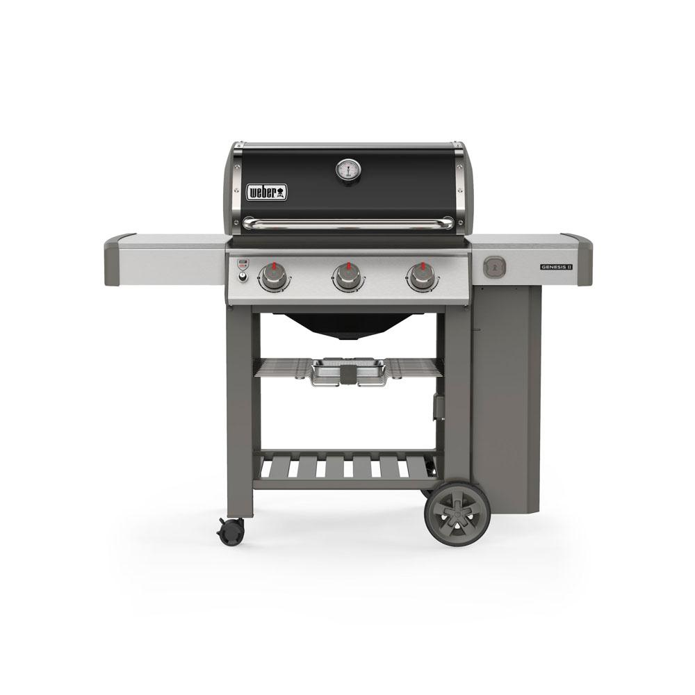 Weber Genesis II E-310 3 Burner Propane Gas Grill in Black with Built-In Thermometer