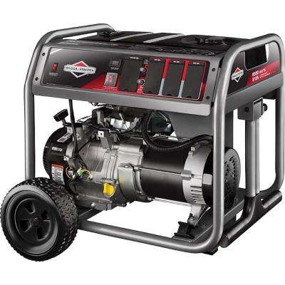 6,500-Watt Gasoline Powered Recoil Start Portable Generator with Briggs Engine
