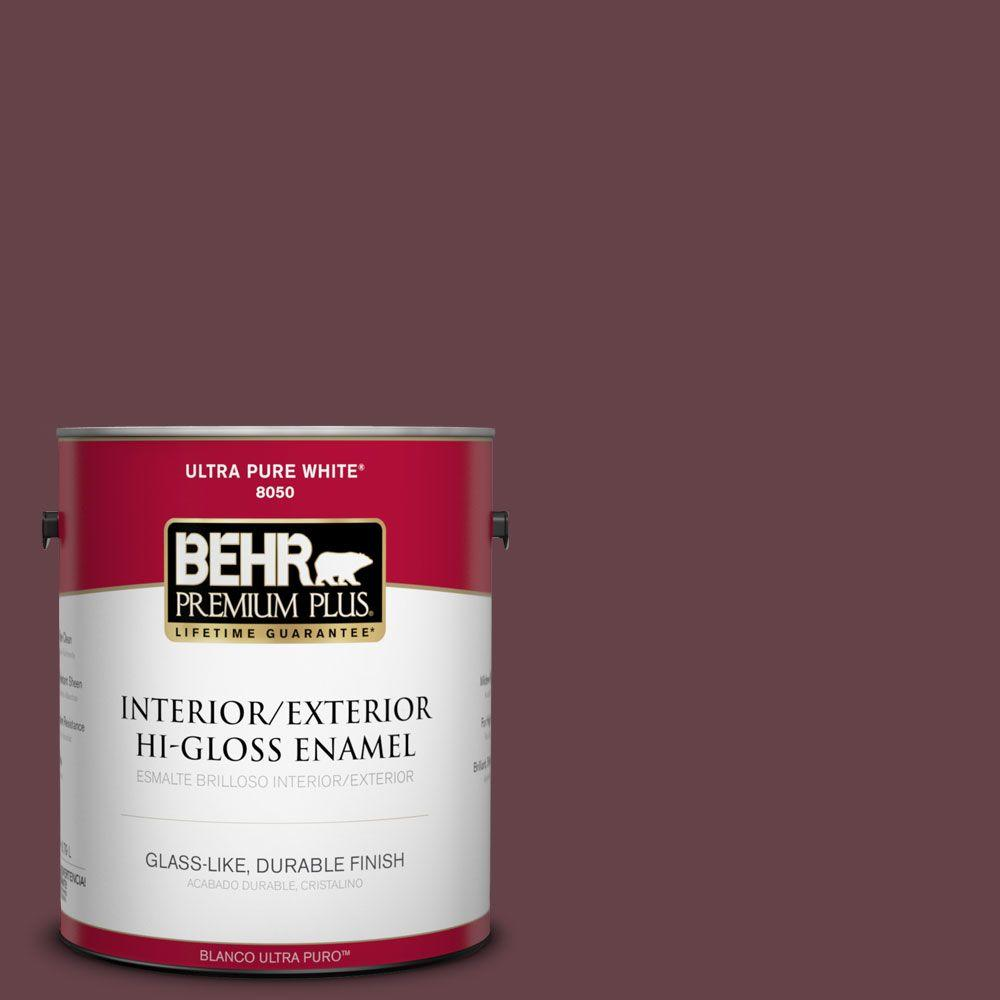1-gal. #PMD-63 Estate Vineyard Hi-Gloss Enamel Interior/Exterior Paint
