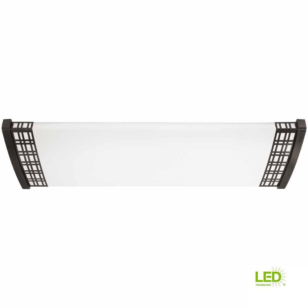 128-Watt Satin Black Nickel Integrated LED Ceiling Flush Mount
