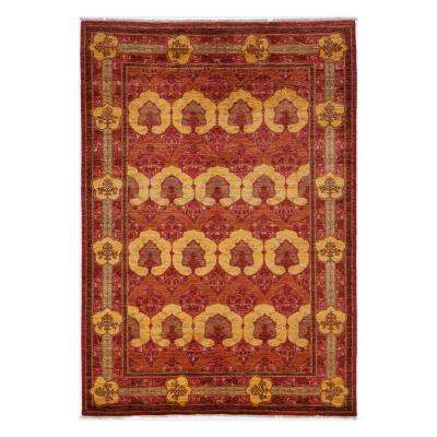 Suzani Red 6 ft. x 9 ft. Indoor Area Rug