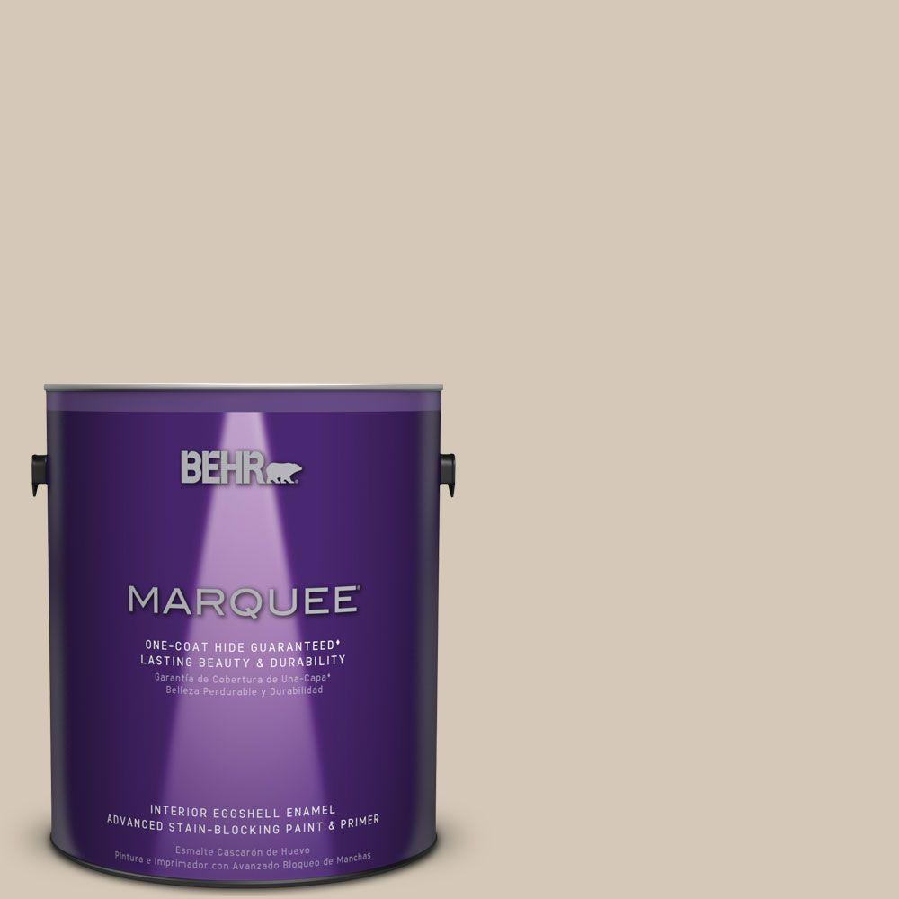 BEHR MARQUEE 1 gal. #MQ3-10 French Beige Eggshell Enamel One-Coat Hide Interior Paint and Primer in One