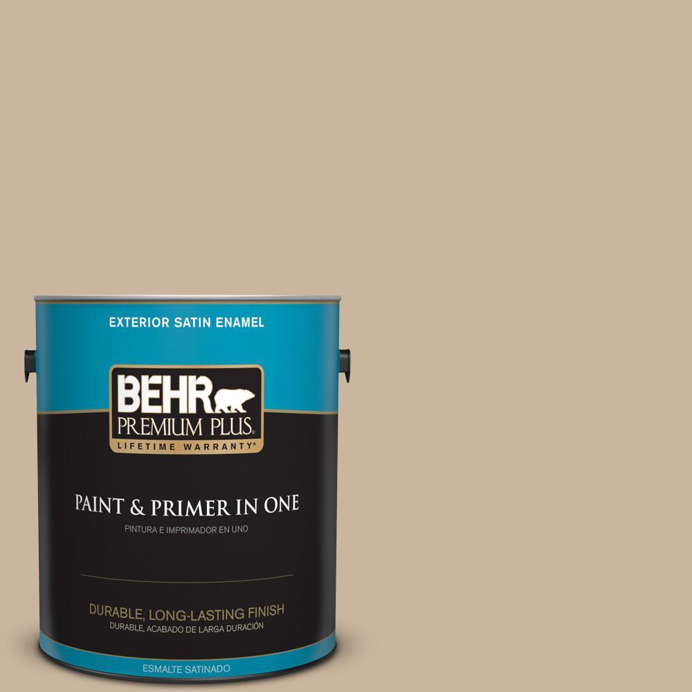 1 gal. #PPU4-07 Mushroom Bisque Satin Enamel Exterior Paint