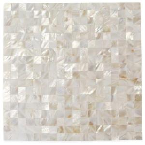 Mother Of Pearl Serene White Squares 12 In X 2 Mm