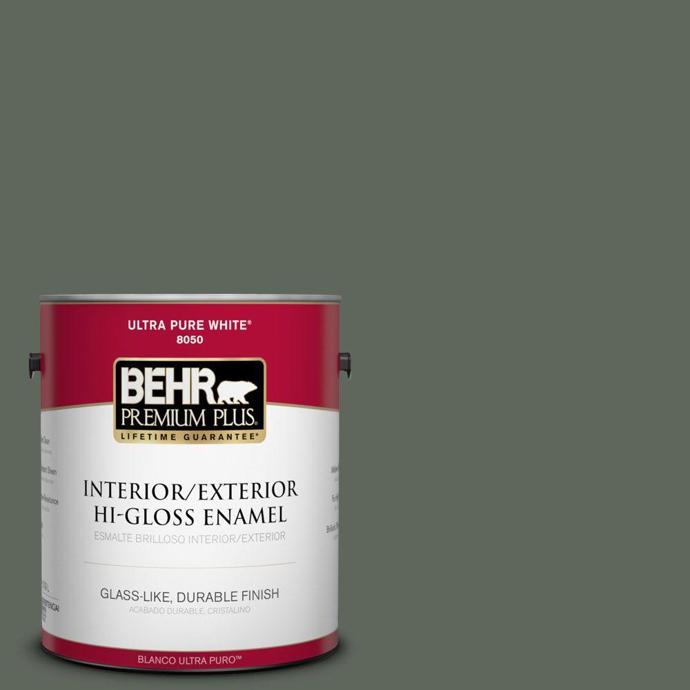 BEHR Premium Plus 1-gal. #710F-6 Painted Turtle Hi-Gloss Enamel Interior/Exterior Paint