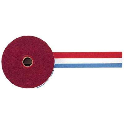 1.875 in. x 500 ft. Red, White and Blue Crepe Streamer (2-Pack)