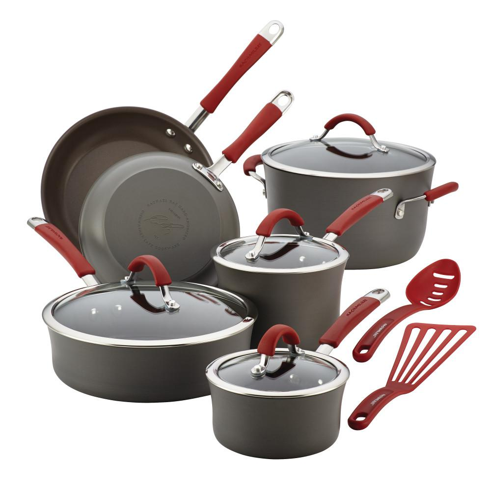 Cucina 12-Piece Gray Cookware Set with Lids