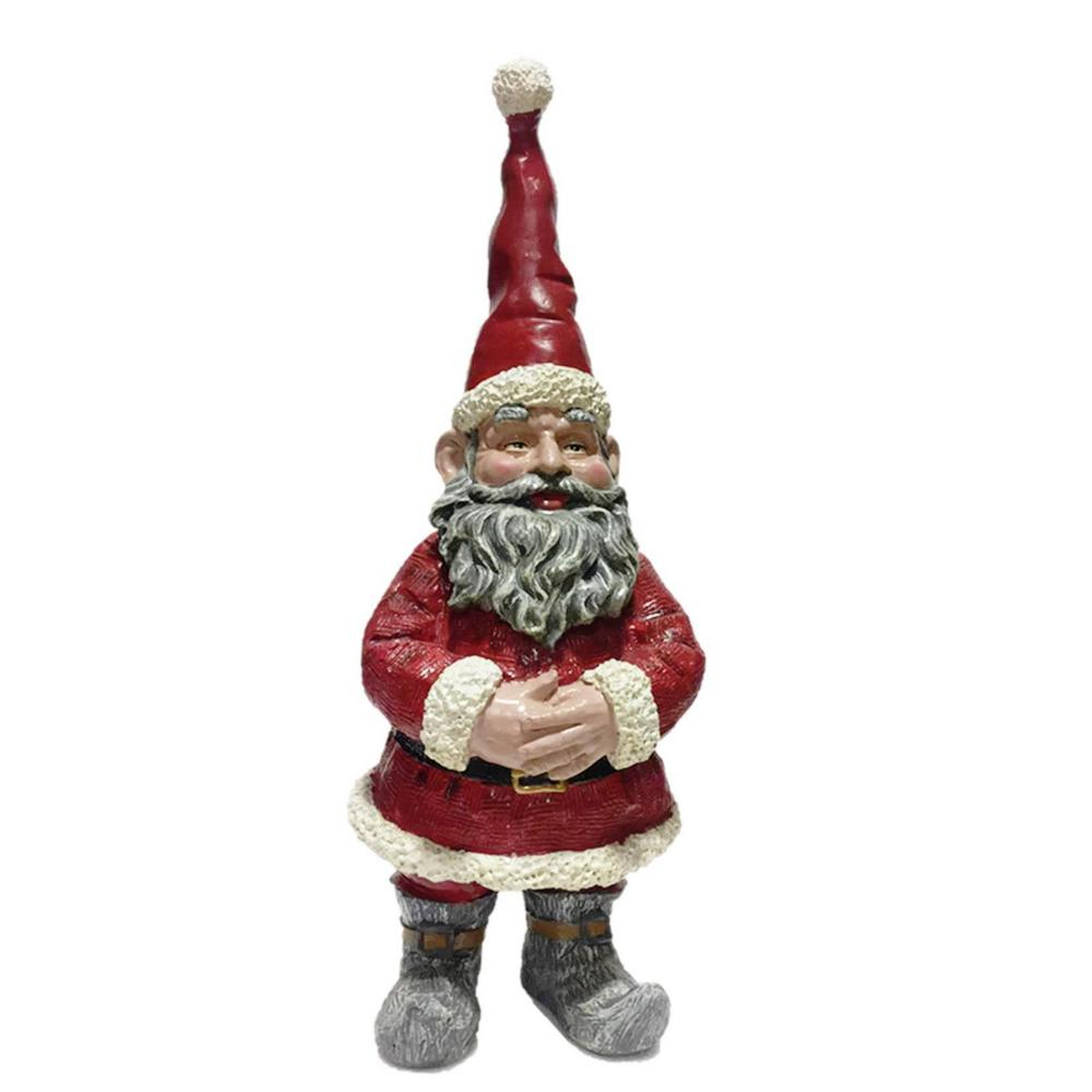 Toad Hollow 20 in. Santa Claus the Christmas Gnome Holiday Home and ...
