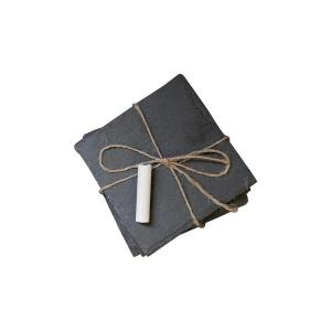 Click here to buy Home Decorators Collection Slate Square Coasters in Black by Home Decorators Collection.