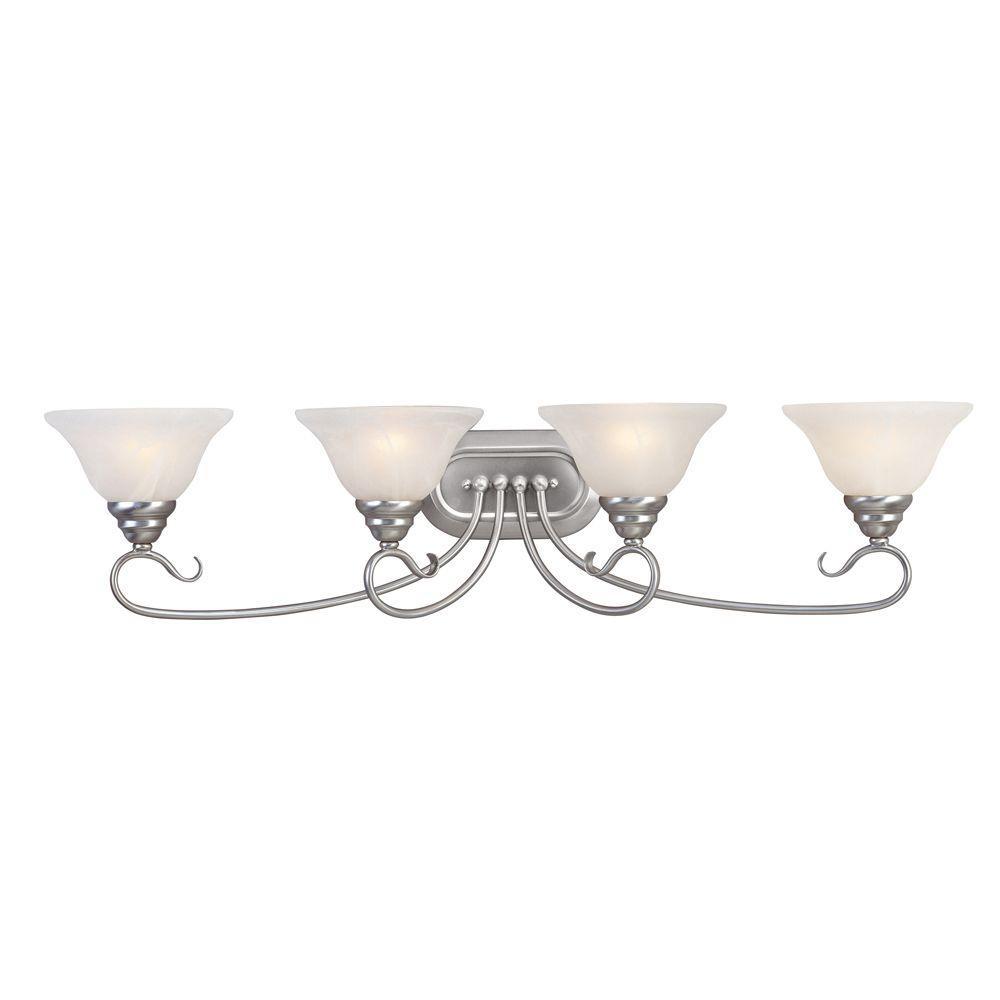 Livex Lighting Oasis 4-Light Brushed Nickel Incandescent Bath Vanity