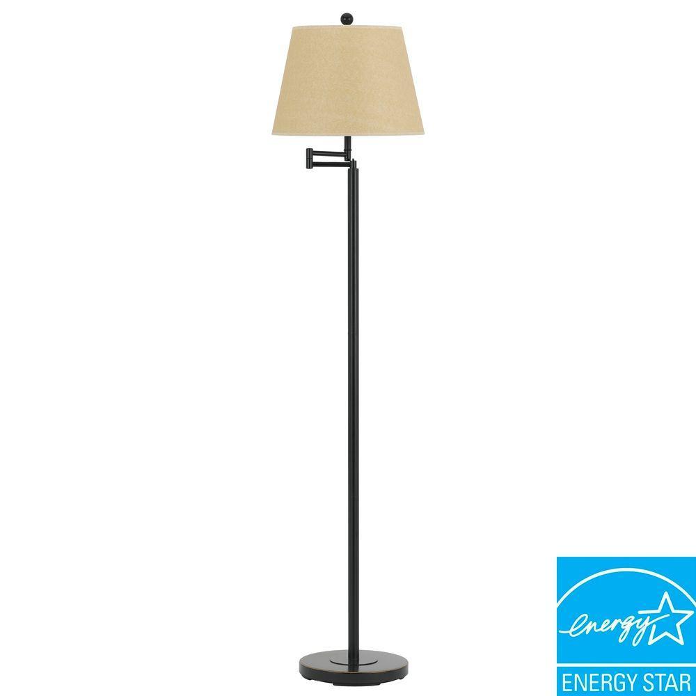 CAL Lighting 60 in. Andros Swing Arm Floor Lamp in Dark Bronze