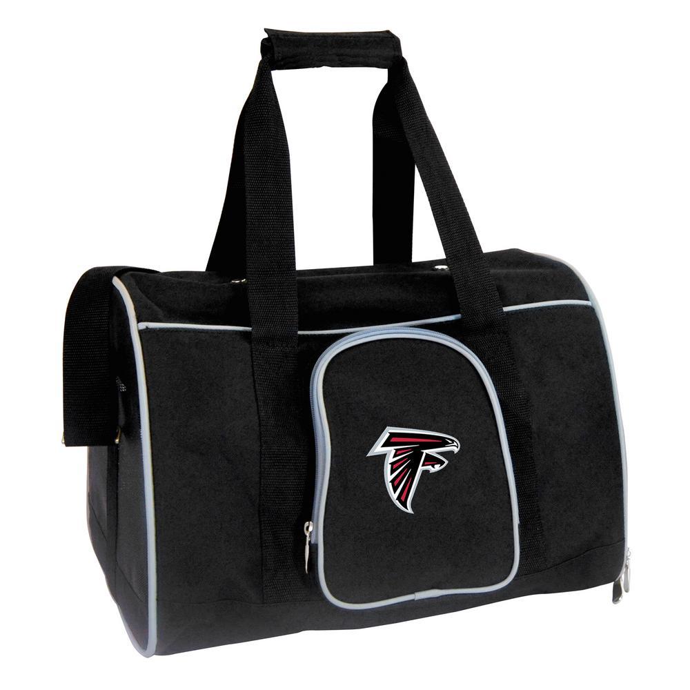 NFL Atlanta Falcons Pet Carrier Premium 16 in. Bag in Gray