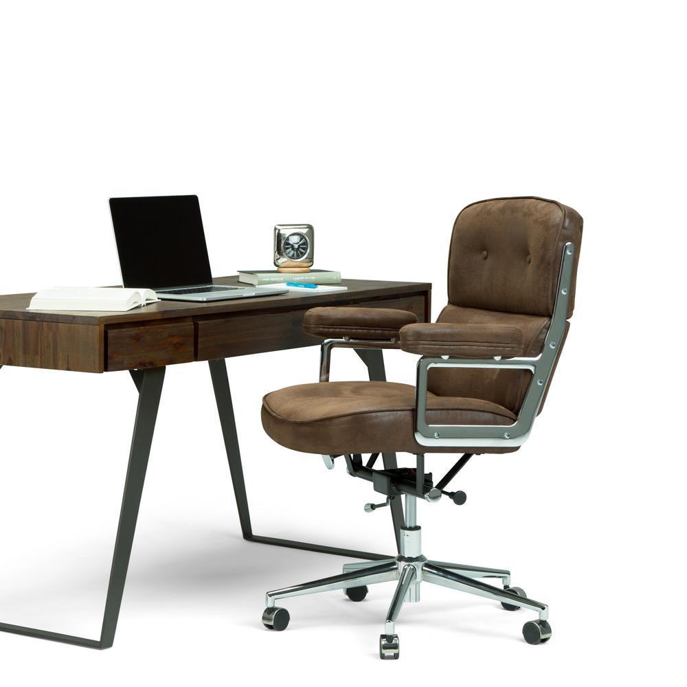 Prime Simpli Home Barton Swivel Adjustable Executive Computer Theyellowbook Wood Chair Design Ideas Theyellowbookinfo