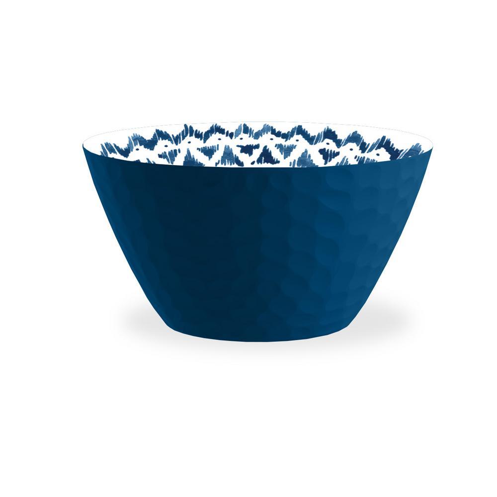 indochine Blue Ikat Melamine Bowl (Set of 6)