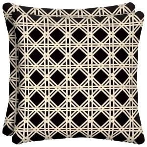 Wicker Lattice Outdoor Throw Pillow (2-Pack)