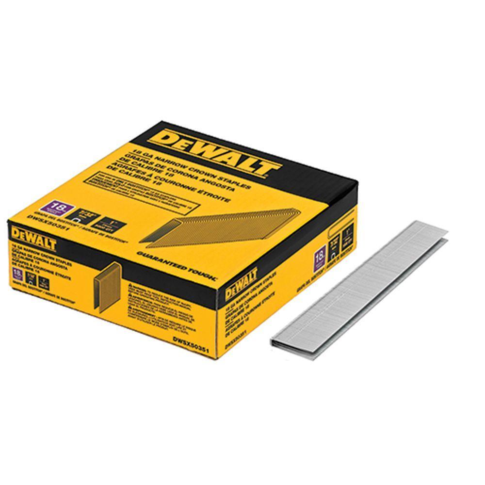 1 in. Leg x 7/32 in. 18-Gauge Crown Glue Collated Steel Staples (5,000 per Box)