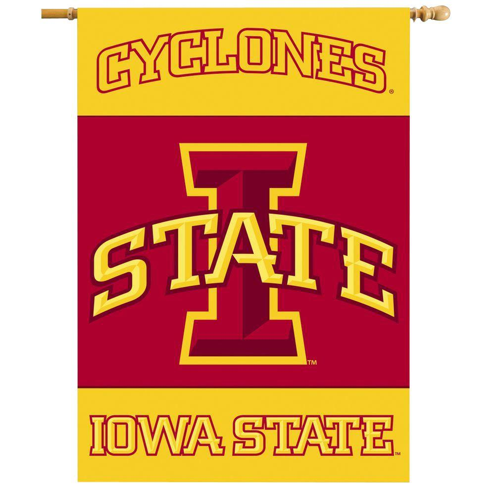 BSI Products NCAA 28 in. x 40 in. Iowa State 2-Sided Banner withj Pole Sleeve