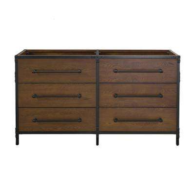 Grandburgh 60 in. W x 22 in. D Vanity Cabinet Only in Coffee Swirl