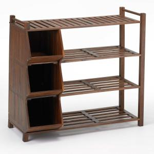 9-Pair Shoe Organizer with Cubby by