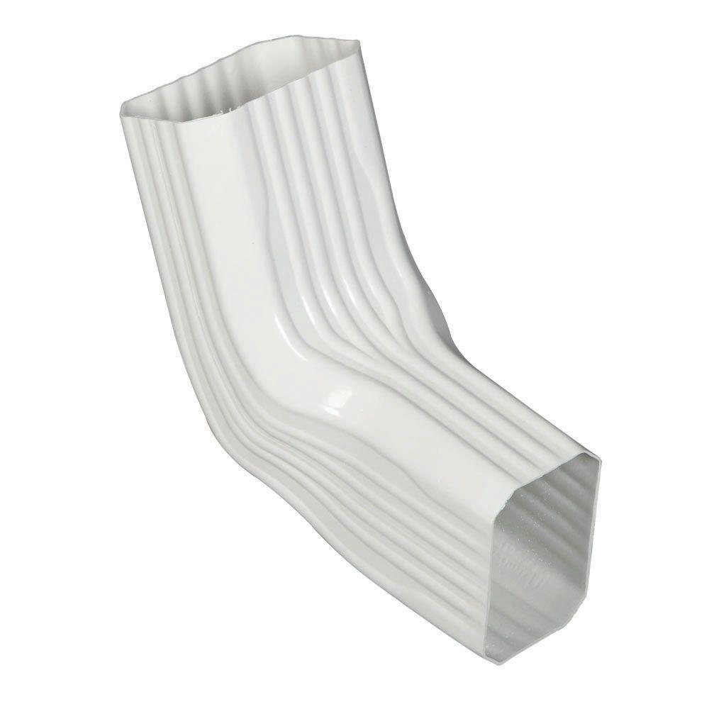 Amerimax Home Products 2 In X 3 In White Vinyl Downspout A B Elbow 37066 The Home Depot
