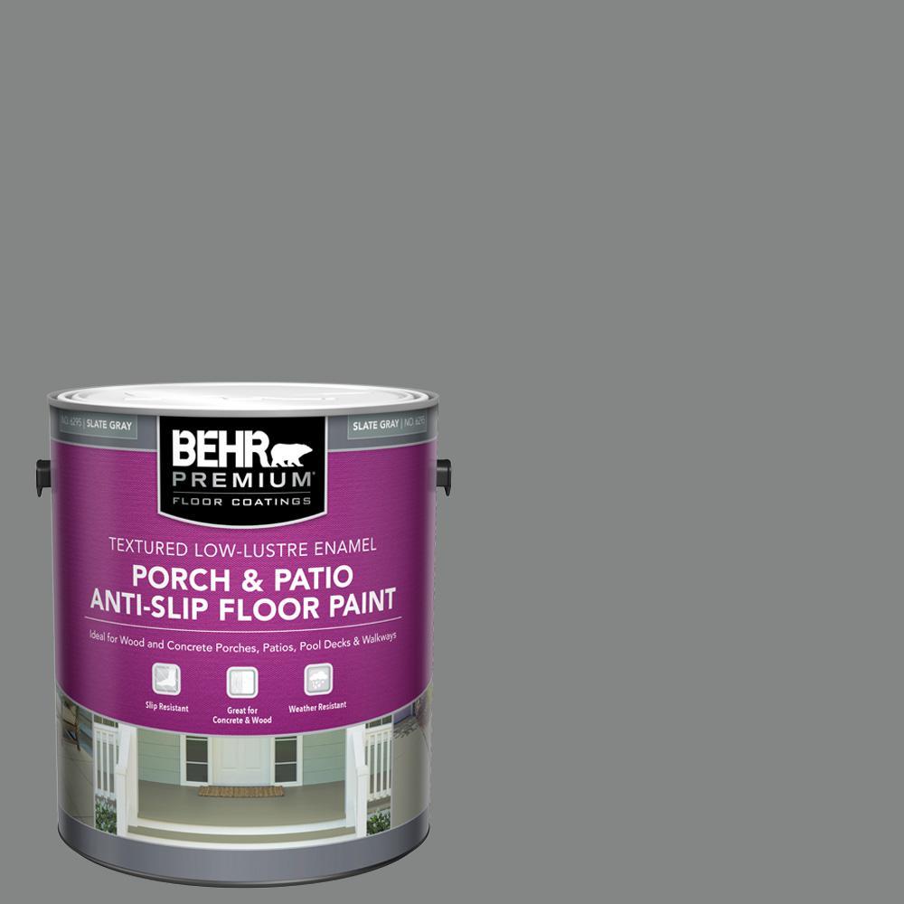 BEHR PREMIUM 1 Gal. #PFC-63 Slate Gray Textured Low-Lustre Enamel Interior/Exterior Anti-Slip Porch and Patio Floor Paint