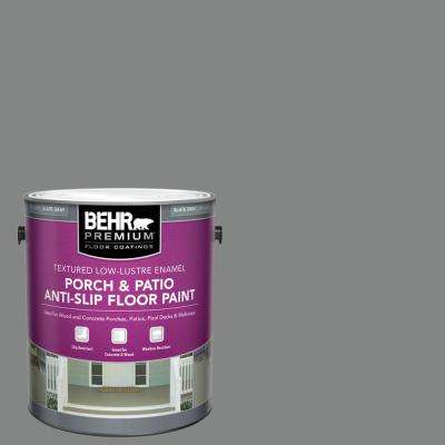 1 Gal. #PFC-63 Slate Gray Textured Low-Lustre Enamel Interior/Exterior Anti-Slip Porch and Patio Floor Paint