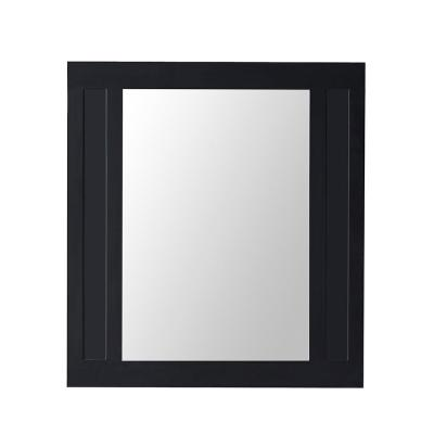 33 in. W x 36 in. H Framed Rectangular  Bathroom Vanity Mirror in Black