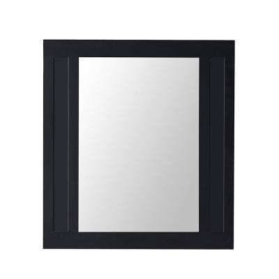 Aberdeen 36 in. x 33 in. Framed Wall Mirror in Black