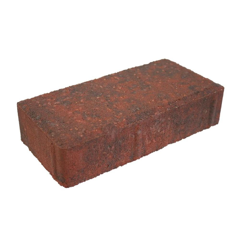 8 in. x 4 in. x 1.75 in. Red/Charcoal Concrete Holland