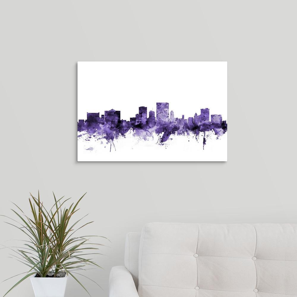 GreatBigCanvas 24 in. x 16 in. ''El Paso Texas Skyline'' by