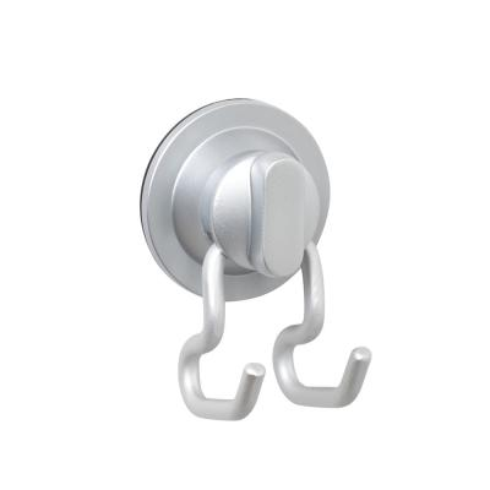 NeverRust Power Grip Pro Dual Mount Aluminum Hook in Satin Chrome