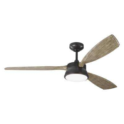 Destin 57 in. Integrated LED Aged Pewter Ceiling Fan