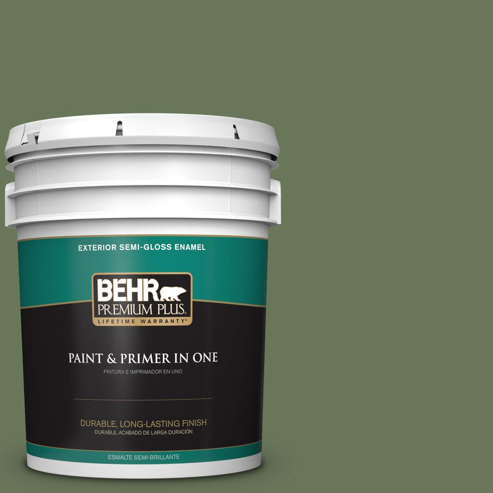 5 gal. #PPU10-01 Scallion Semi-Gloss Enamel Exterior Paint